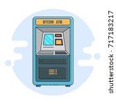 automated teller machine. flat... | Shutterstock .eps vector #717183217
