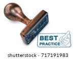 3d illustration of a rubber... | Shutterstock . vector #717191983
