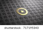 many stars in relief on black... | Shutterstock . vector #717195343
