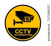 cctv camera. black video... | Shutterstock .eps vector #717200527