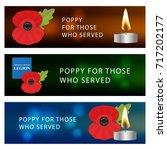 the remembrance poppy   poppy... | Shutterstock .eps vector #717202177