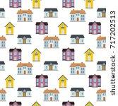 residential house seamless... | Shutterstock .eps vector #717202513