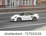 exclusive white convertible... | Shutterstock . vector #717222133