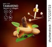 tamarind serum or collagen and...   Shutterstock .eps vector #717223723