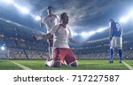 soccer players celebrate a... | Shutterstock . vector #717227587