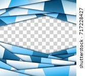 abstract blue paper frame | Shutterstock .eps vector #717228427