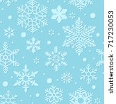 snowflakes seamless pattern ... | Shutterstock .eps vector #717230053
