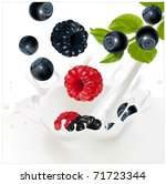 vector. ripe forest berries... | Shutterstock .eps vector #71723344