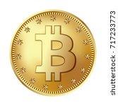 bitcoin golden coin. money and... | Shutterstock .eps vector #717233773