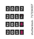 new year concept  analog... | Shutterstock .eps vector #717234337