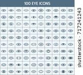 simple set of eye related... | Shutterstock .eps vector #717241243