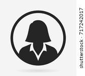 businesswoman icon | Shutterstock .eps vector #717242017