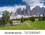 the peaks of the majestic... | Shutterstock . vector #717255247