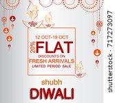 diwali festival offer design... | Shutterstock .eps vector #717273097