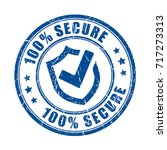 secure protection vector stamp... | Shutterstock .eps vector #717273313