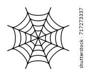 spider web black silhouette... | Shutterstock .eps vector #717273337