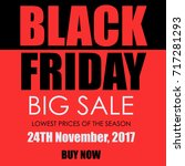 black friday banner | Shutterstock . vector #717281293