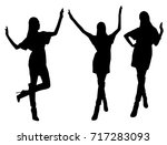 woman silhouettes | Shutterstock .eps vector #717283093