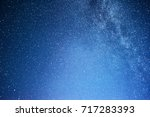 vibrant night sky with stars... | Shutterstock . vector #717283393