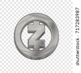 silver zcash coin symbol... | Shutterstock .eps vector #717283987
