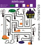 activity page for kids.... | Shutterstock .eps vector #717286723