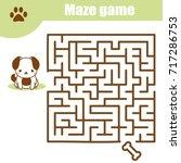 maze children game  help the... | Shutterstock .eps vector #717286753