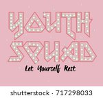 youth rock music type print and ...