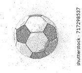 soccer ball from particles | Shutterstock . vector #717298537