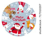 vector christmas greeting card... | Shutterstock .eps vector #717310207