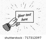 retro grunge illustration of... | Shutterstock .eps vector #717312097