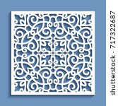 decorative panel with lace...   Shutterstock .eps vector #717322687