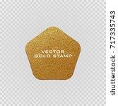 premium quality golden label ... | Shutterstock .eps vector #717335743