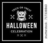 happy halloween vector... | Shutterstock .eps vector #717338863