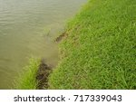 the river bank collapse river... | Shutterstock . vector #717339043