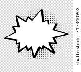 vector comic explosion. comic... | Shutterstock .eps vector #717340903