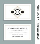 business card vintage ornament... | Shutterstock .eps vector #717347887