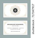business card vintage ornament... | Shutterstock .eps vector #717347917