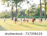 blurred group of multiethnic ... | Shutterstock . vector #717358123
