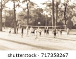 blurred group of multiethnic ... | Shutterstock . vector #717358267