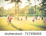 blurred group of multiethnic ... | Shutterstock . vector #717358303