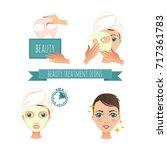 beauty treatment illustration ... | Shutterstock .eps vector #717361783
