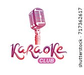 karaoke club inscription ... | Shutterstock .eps vector #717362617
