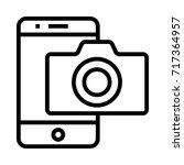 mobile camera icon | Shutterstock .eps vector #717364957