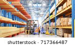 concept of warehouse. the... | Shutterstock . vector #717366487
