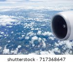 engine airplane and cloud