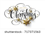 merry christmas calligraphic... | Shutterstock .eps vector #717371563