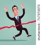 happy smiling businessman... | Shutterstock .eps vector #717372073