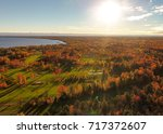 sunset sand traps during autumn ... | Shutterstock . vector #717372607