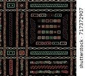 creative ethnic style vector... | Shutterstock .eps vector #717372907