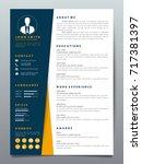resume design template...   Shutterstock .eps vector #717381397